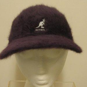 KANGOL Purple Fuzzy Angora Stretch Spacecap Hat